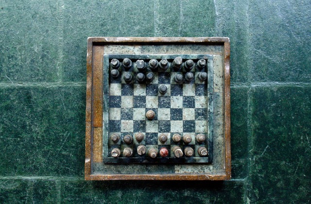Chess board to symbolize strategy